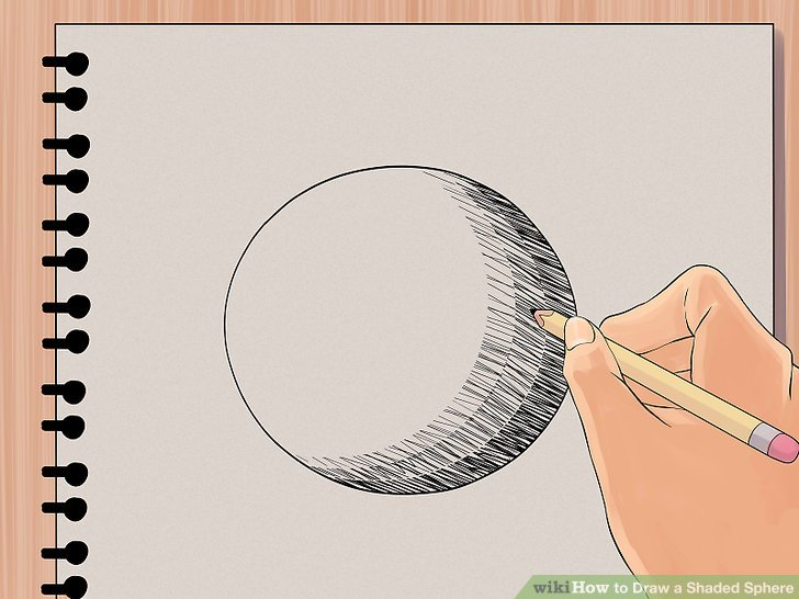 728x546 How To Draw A Shaded Sphere 5 Steps (With Pictures)