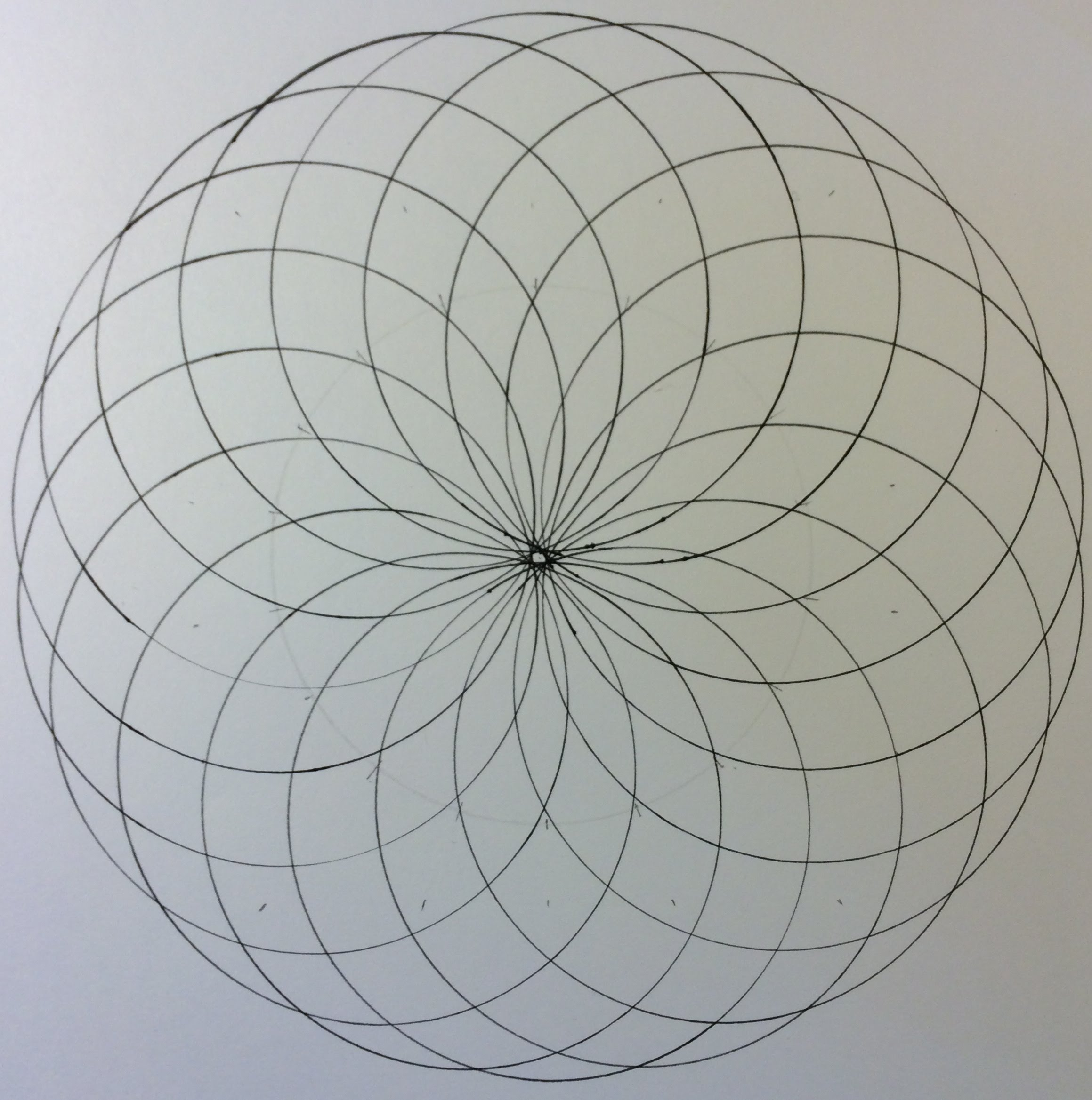 2319x2338 How To Draw A Spiralcircle Grid