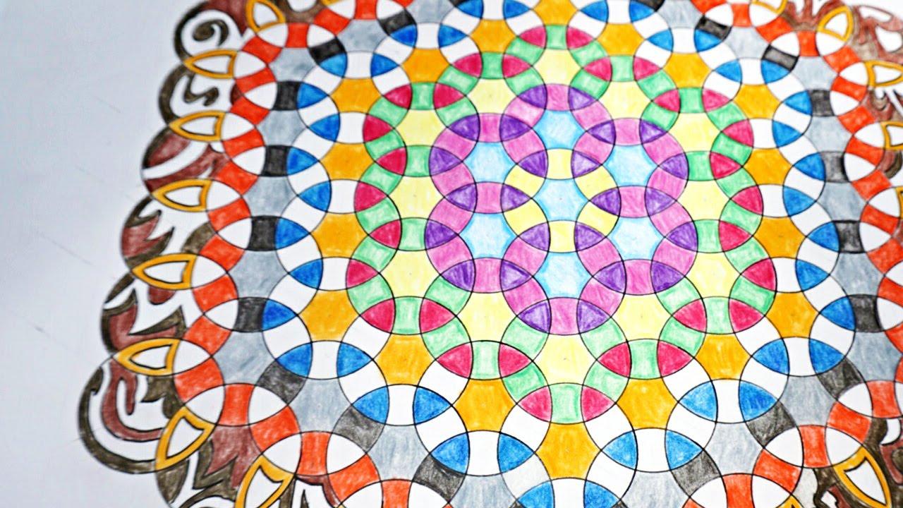 1280x720 Geometric Ripples How To Draw Mandala Using Circles
