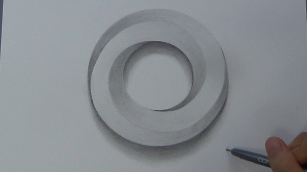 600x337 How To Draw An Impossible Circle 3d Circle Impossible Shapes
