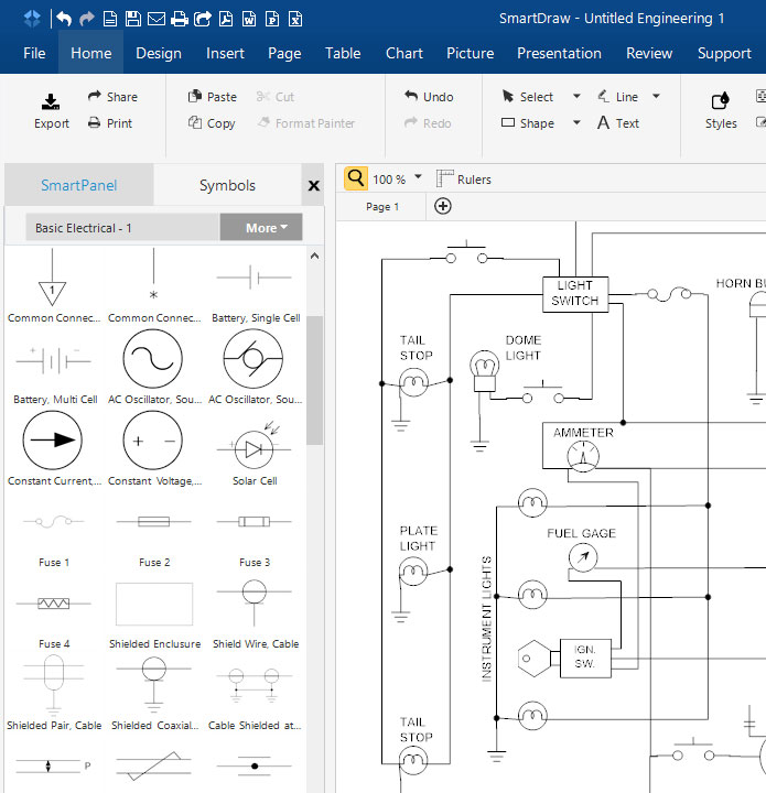 695x720 Circuit Diagram Maker Free Download Amp Online App