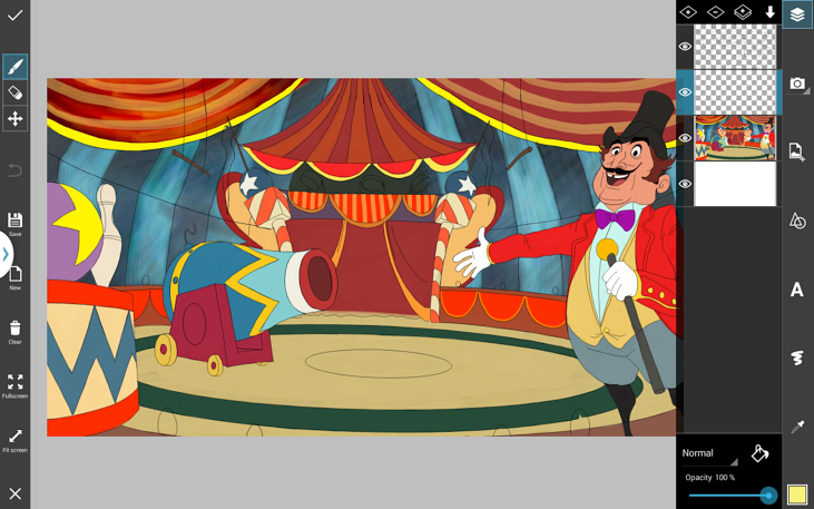731x457 How To Draw A Circus Step By Step Tutorial