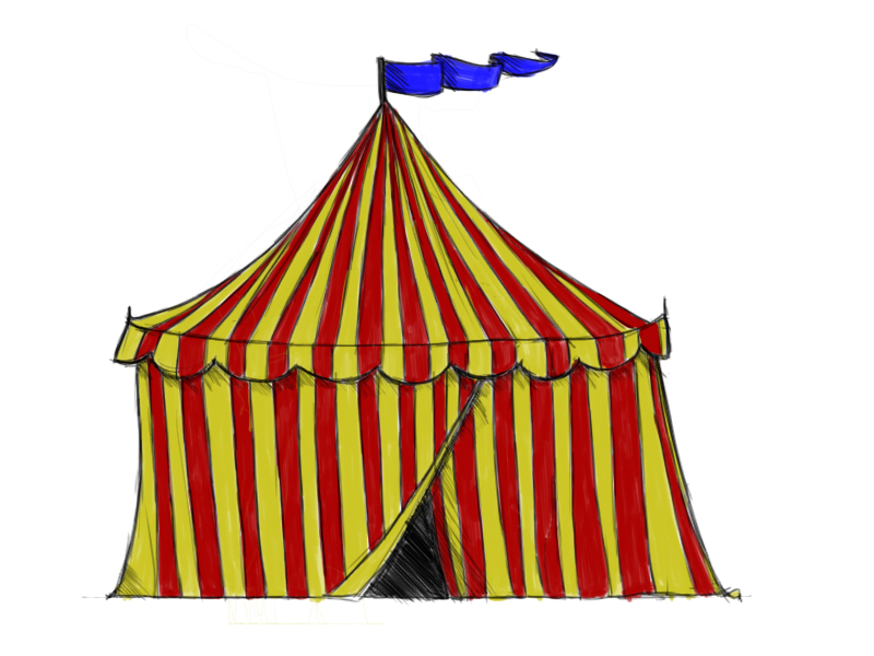 800x600 How To Draw A Circus Tent 6 Steps (With Pictures)