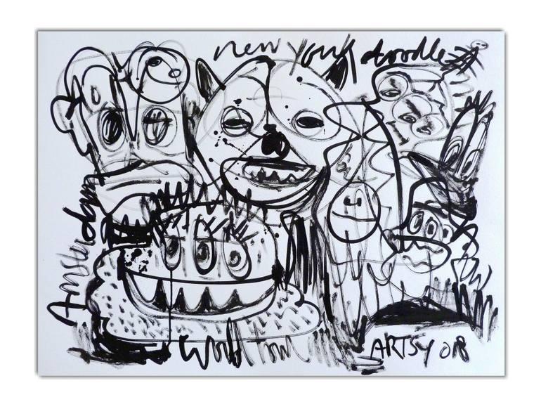 770x582 Saatchi Art Happy Family Drawing By Mister Artsy Graffiti Street