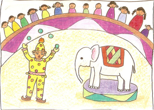 512x366 Circus By Urmi Patel (Om Drawing Classes)