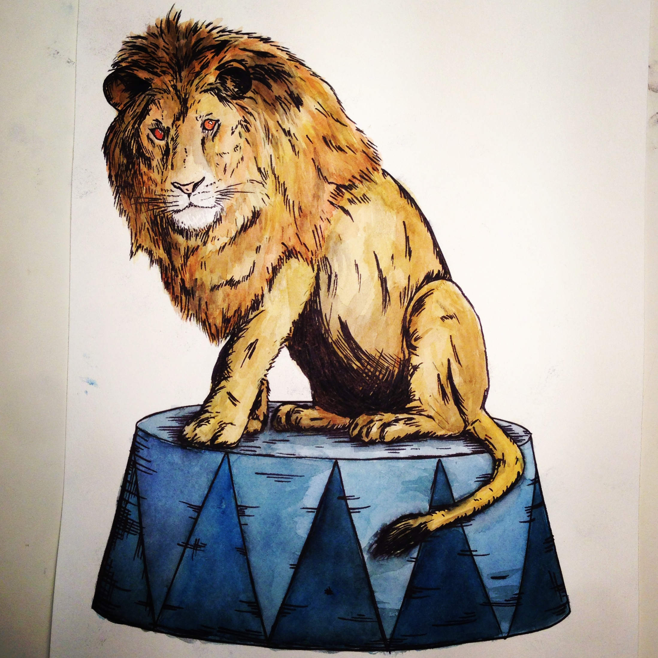 2197x2197 Circus Lion Drawings, Doodles And Dalliance