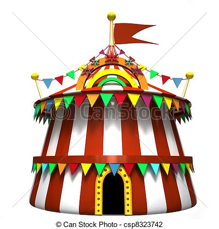 450x470 Circus Tent On A White Background Clip Art