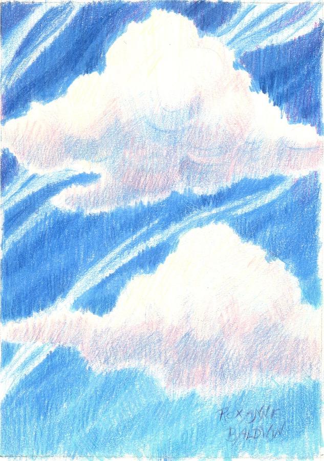 633x900 Clouds Drawing By Roxanne Baldwin