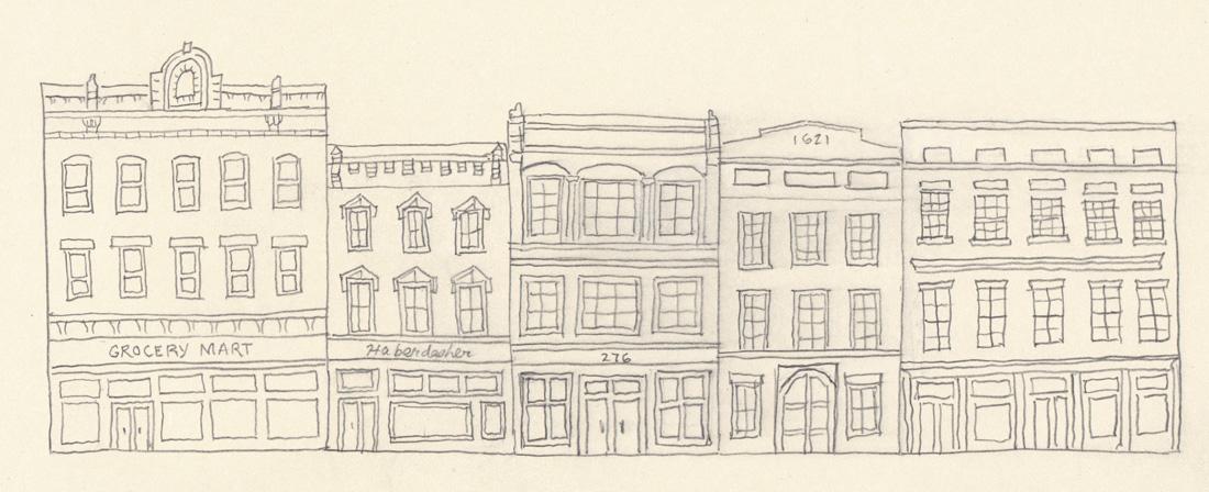 1100x448 A Diminutive Row Of City Buildings The Museum