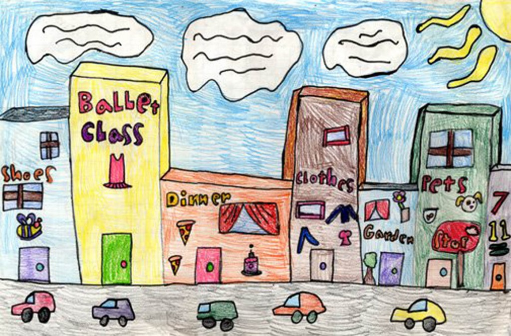 1024x674 Draw City Buildings Cube, Building And City