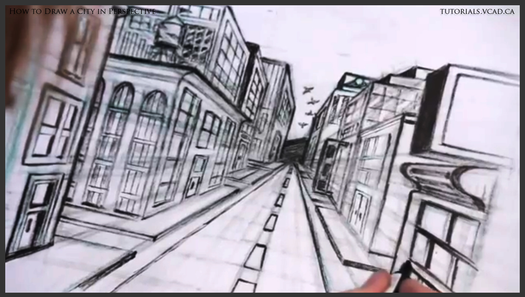 1700x960 Learn To Draw A City In One Point Perspective Learn How To Draw Free