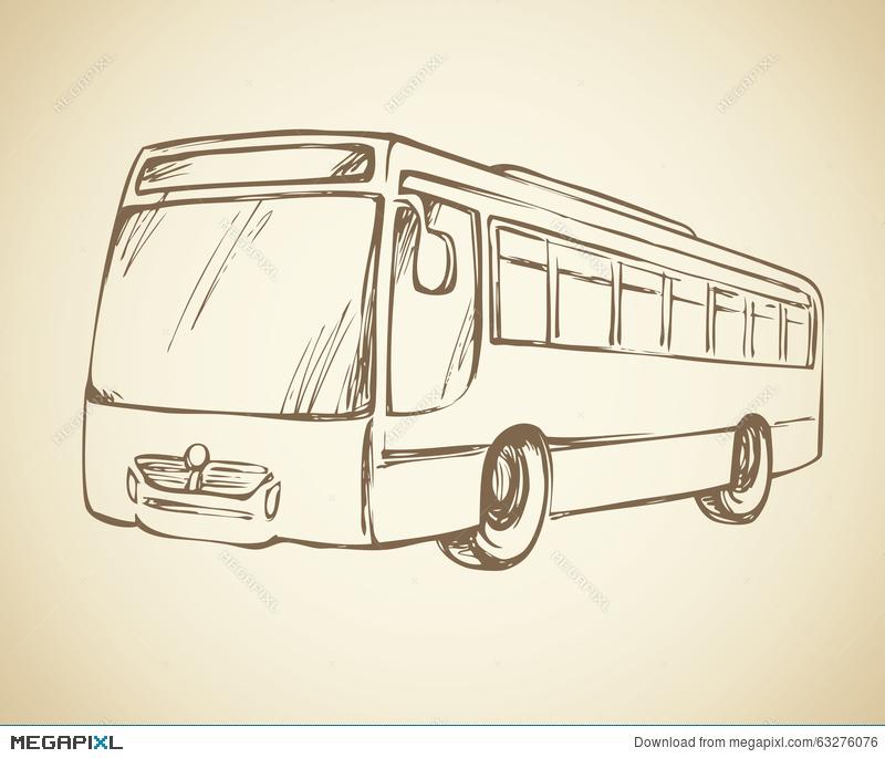 800x685 Bus. Vector Drawing Illustration 63276076