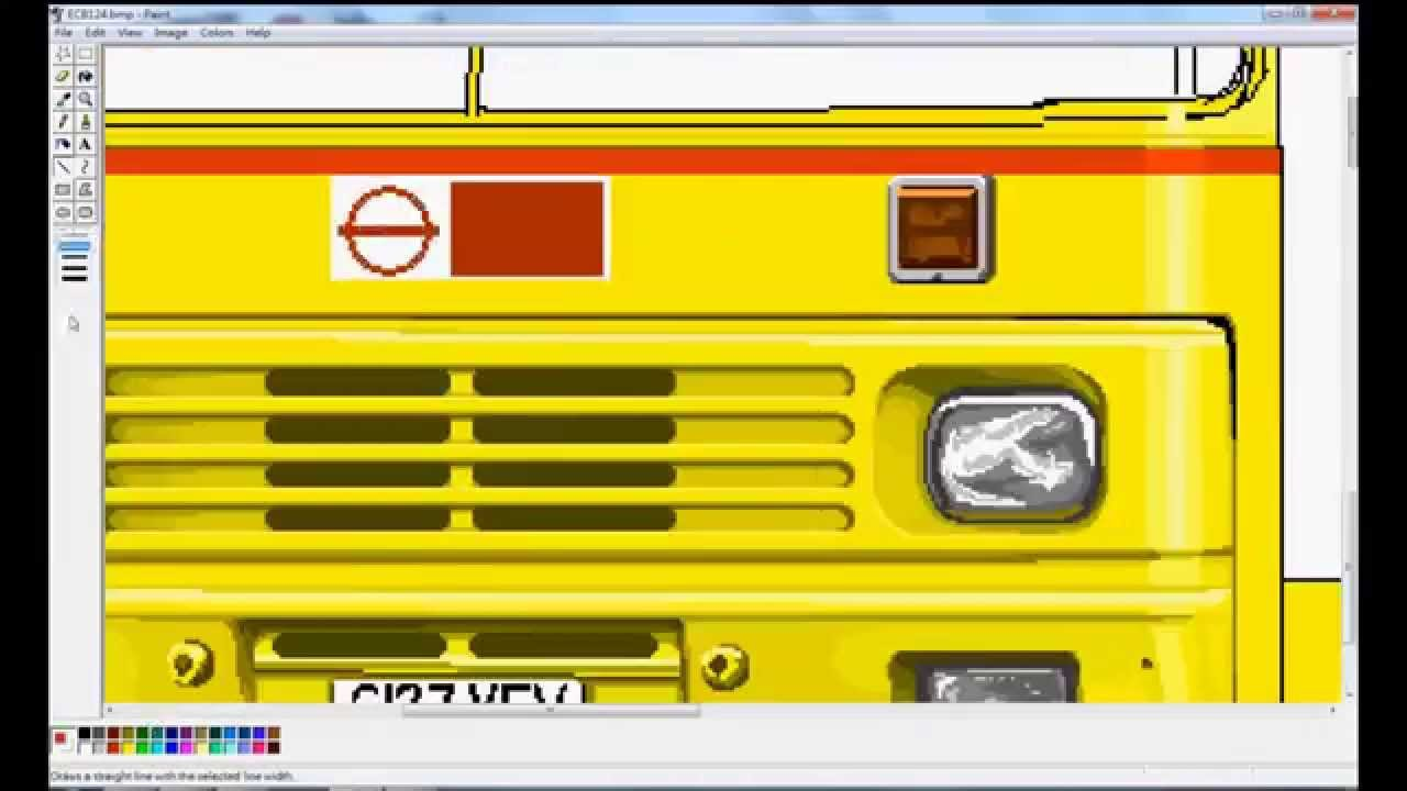 1280x720 Drawing Capital Citybus Olympian With Ms Paint