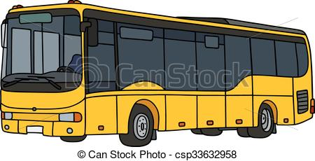 450x230 Hand Drawing Of A Yellow City Bus
