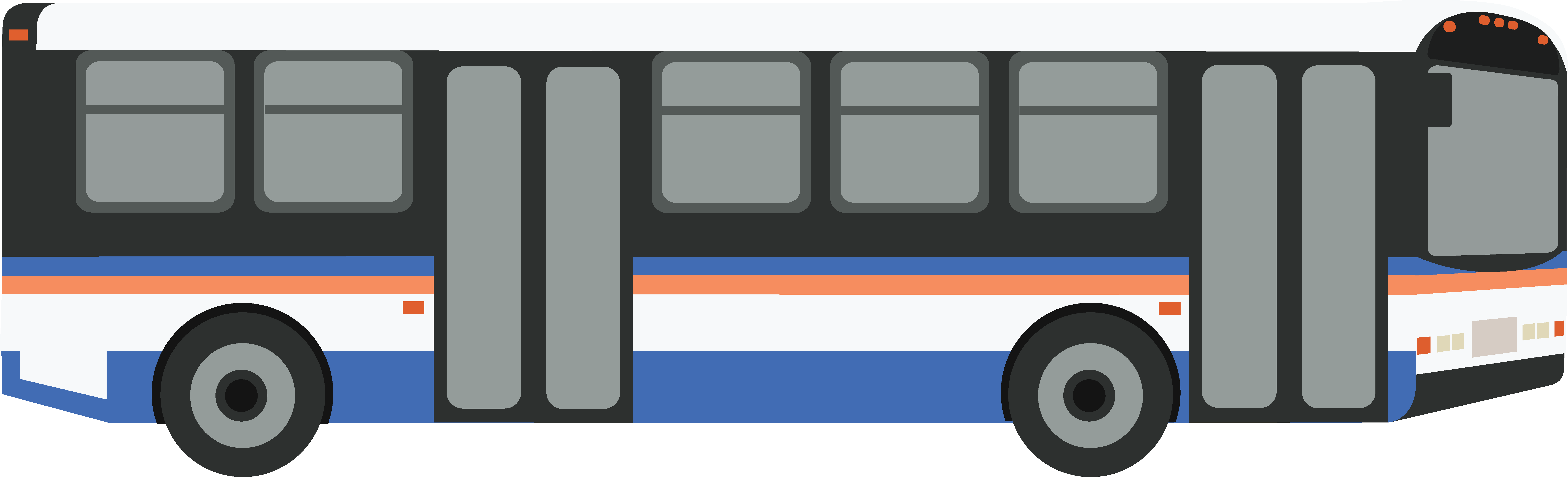 how to draw a transit bus