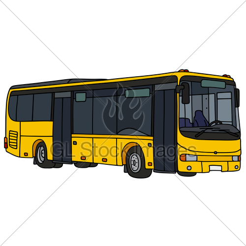 500x500 Yellow City Bus Gl Stock Images