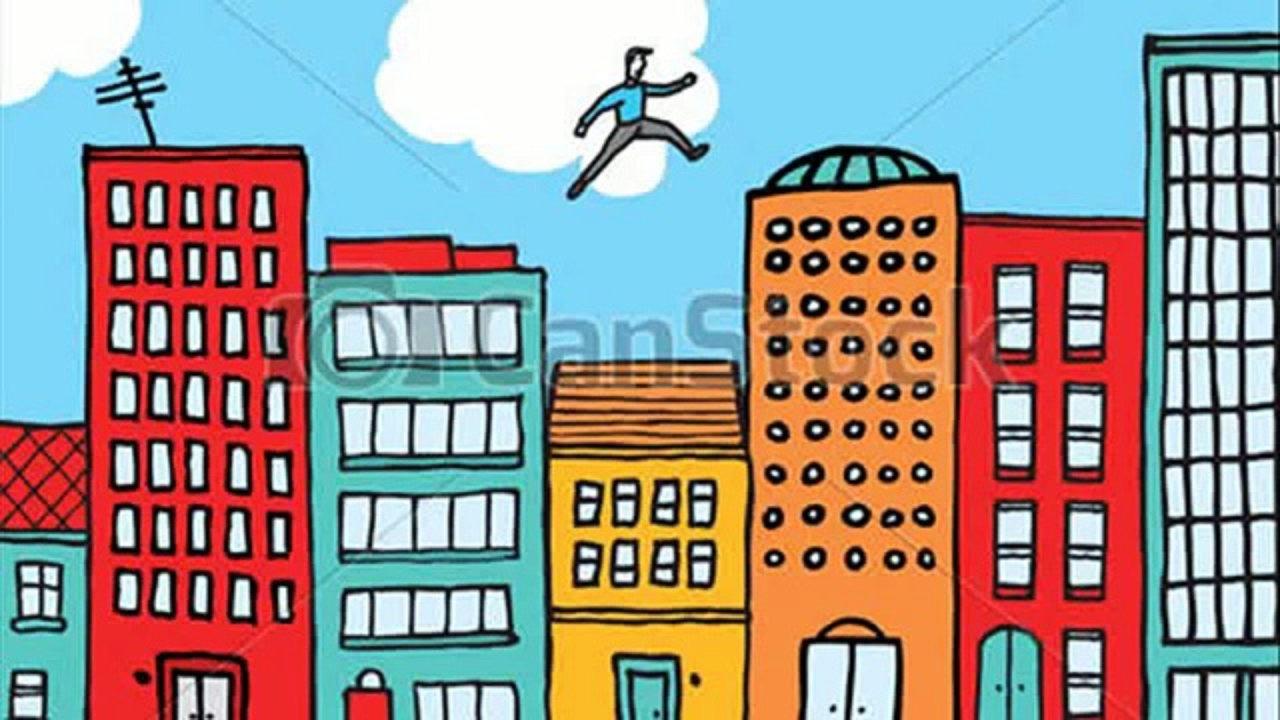 1280x720 Cartoon City Drawing Cartoon Drawing Buildings