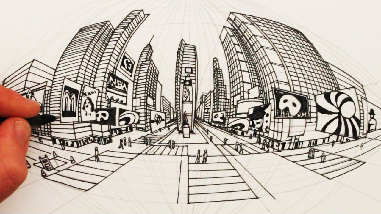 1280x720 5 Point Perspective Drawing How To Draw In 5 Point Perspective