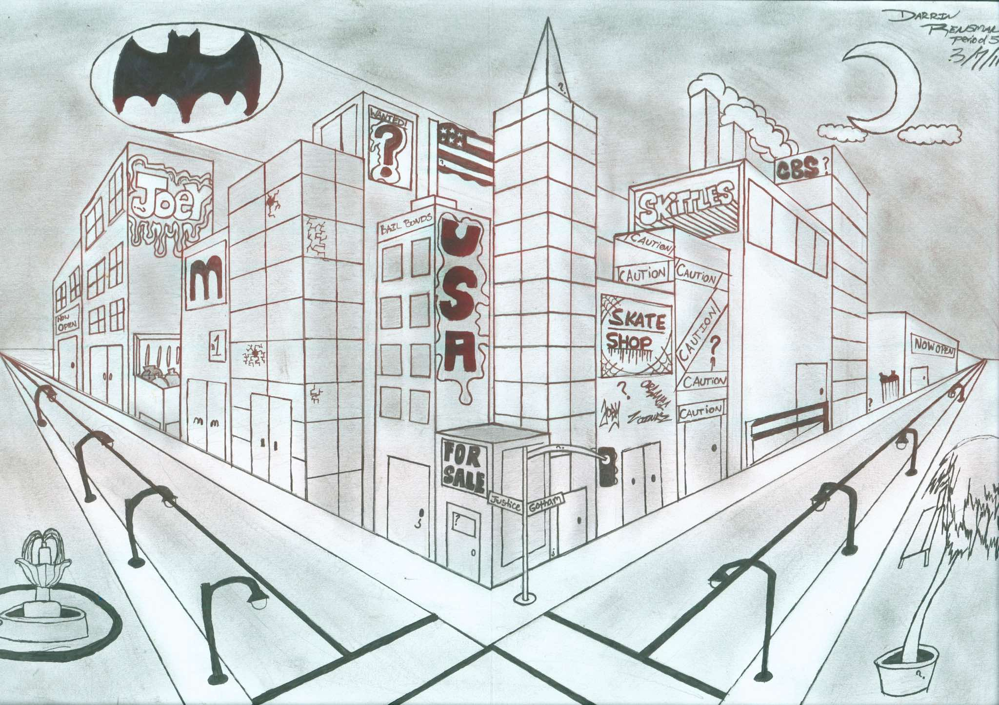 2048x1445 City Perspective Drawing Jghs 2010 2011 Two Point Perspective