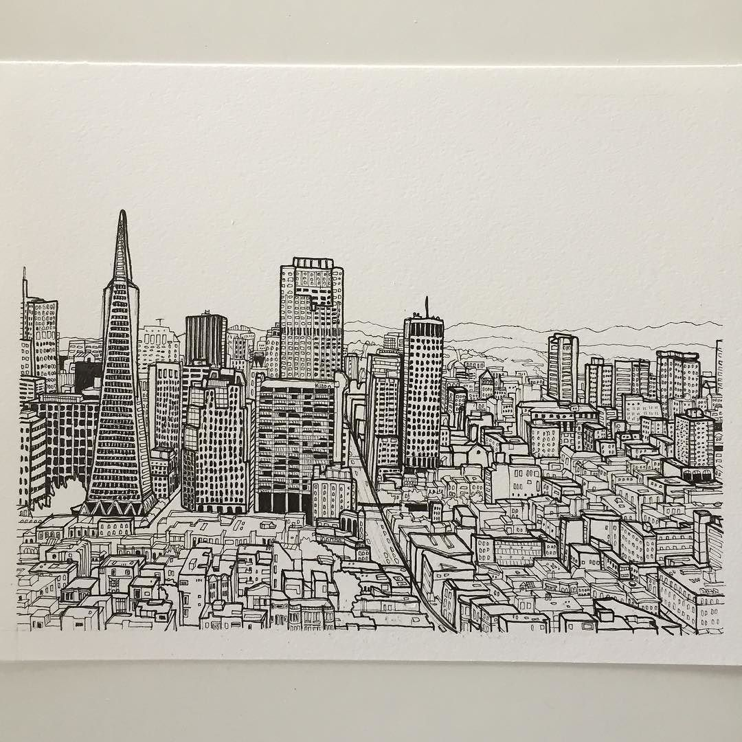 1080x1080 How To Draw A Cityscape In 5 Steps Outline Images, City Skylines