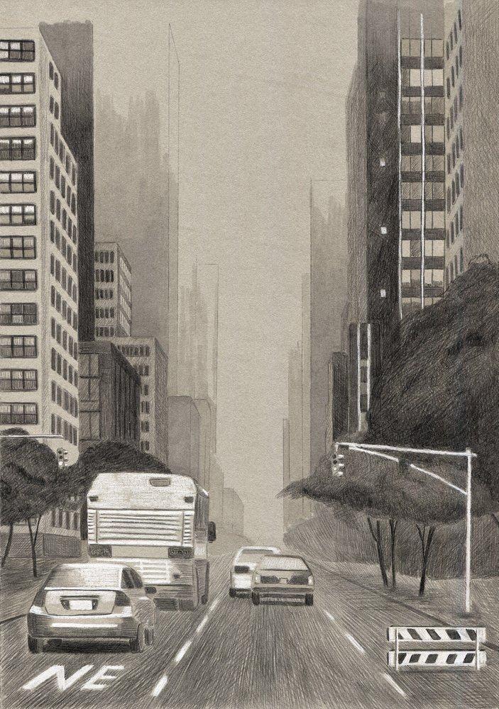 703x1000 City Landscape' By Alexey Kosarev