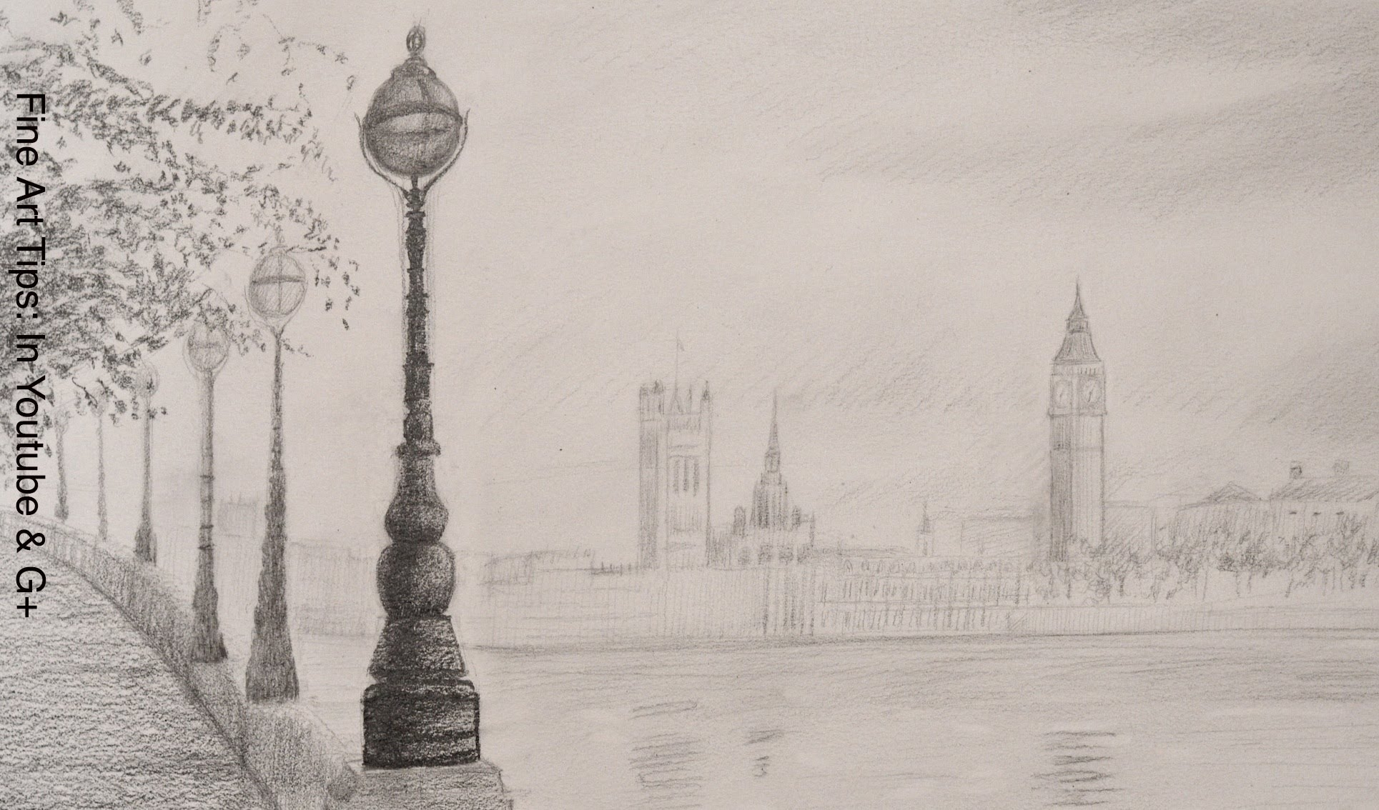 1929x1134 City Landscape Drawing How To Draw The Big Ben