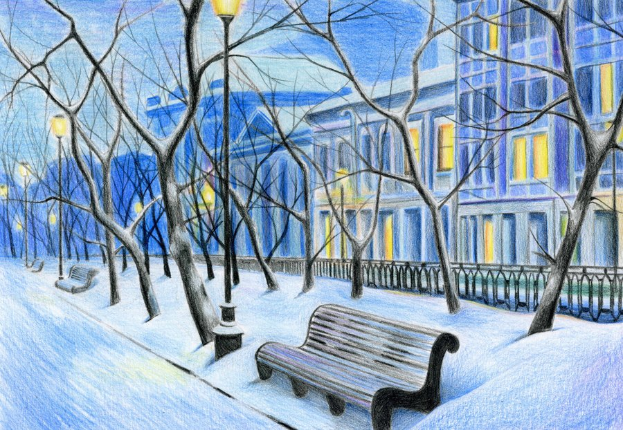 900x622 Winter City Landscape By Sabdi