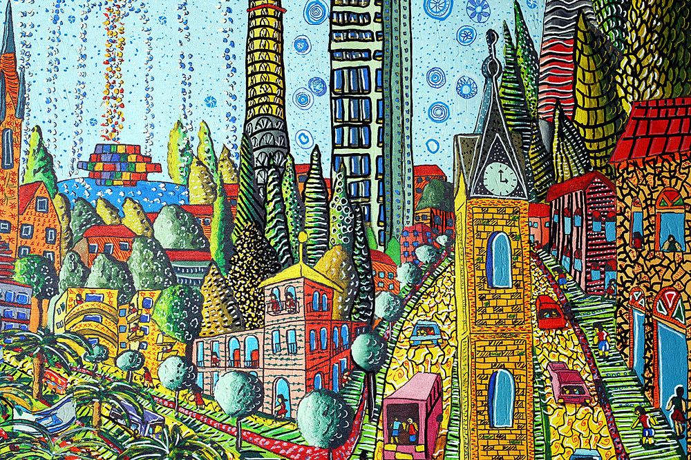 1000x667 Zentangle City Landscape Artist Raphael Perez Zen Tangle