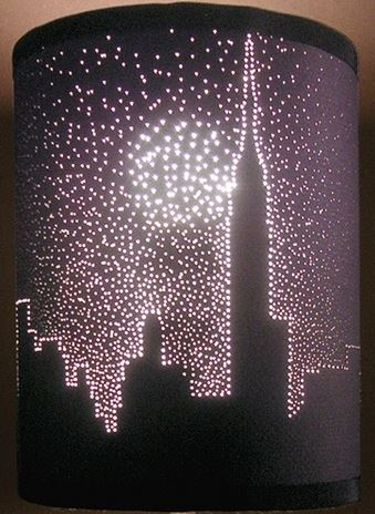 Wonderful 339x464 City Lights Lampshade