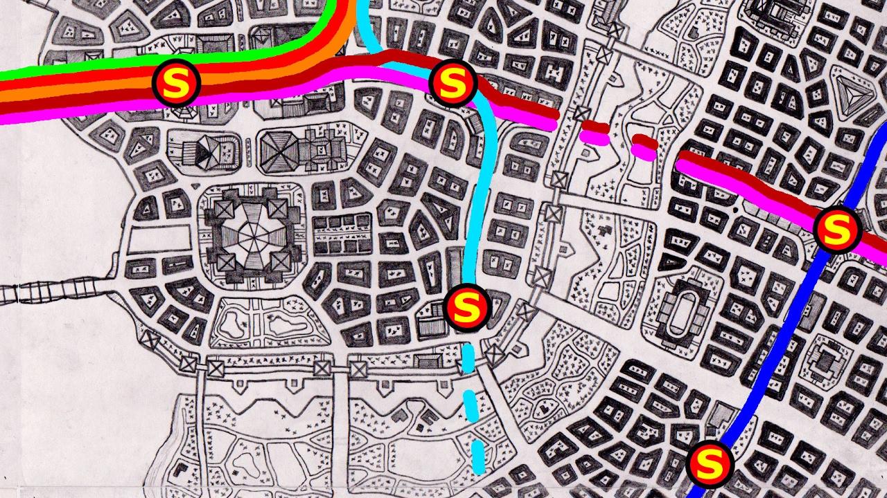 1280x720 City Map Drawing Noxium 2016