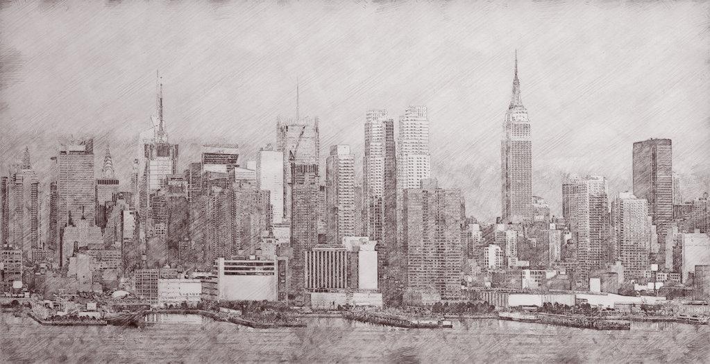 1023x525 new york city pencil sketch by pmdang on deviantart