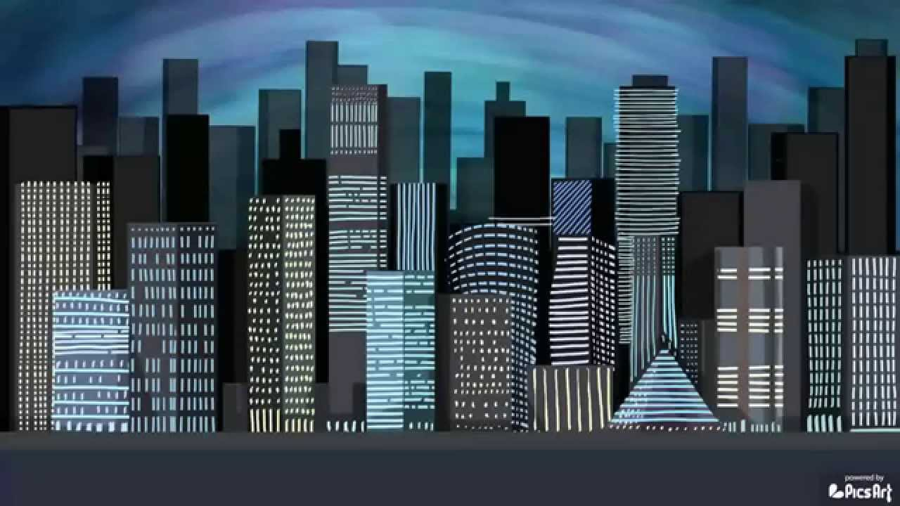 1280x720 How To Draw A Cityscape With Picsart, Time Lapse Video