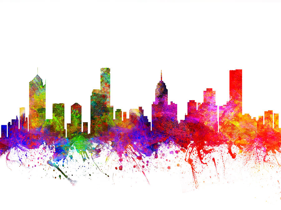 900x675 Melbourne Australia Cityscape 02 Drawing By Aged Pixel