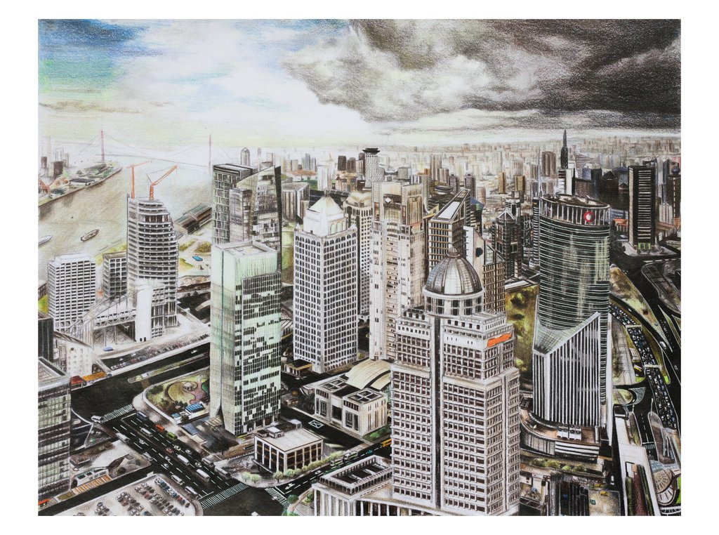 1024x762 Shanghai City Drawing By Kinobuta On Art