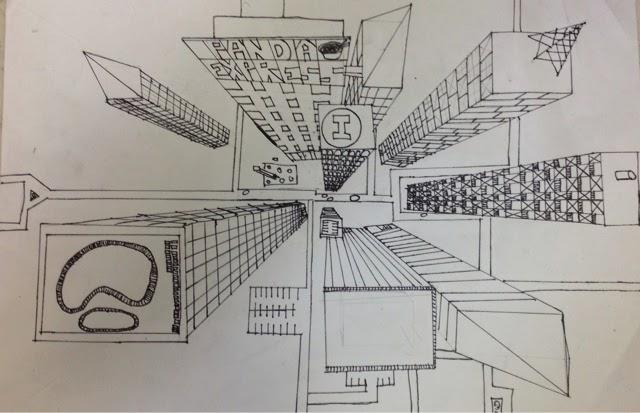 640x413 Megan's Art Blog Bird's Eye View Perspective Cityscape