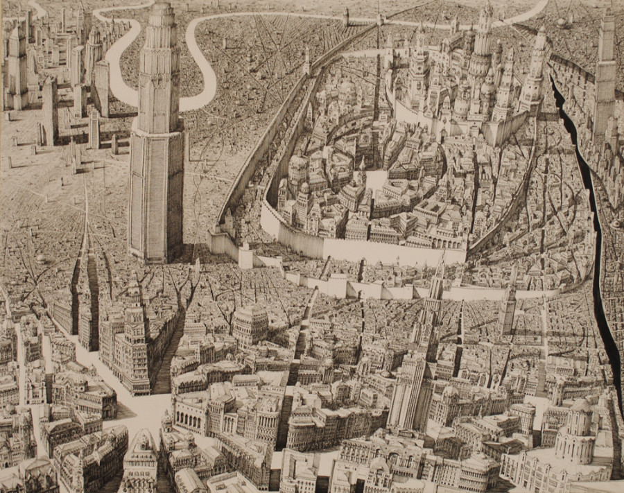 900x711 10 Wildly Detailed Drawings Of Fictional Cityscapes That Will Make