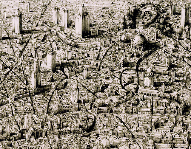 640x500 Hand Drawn Cityscapes