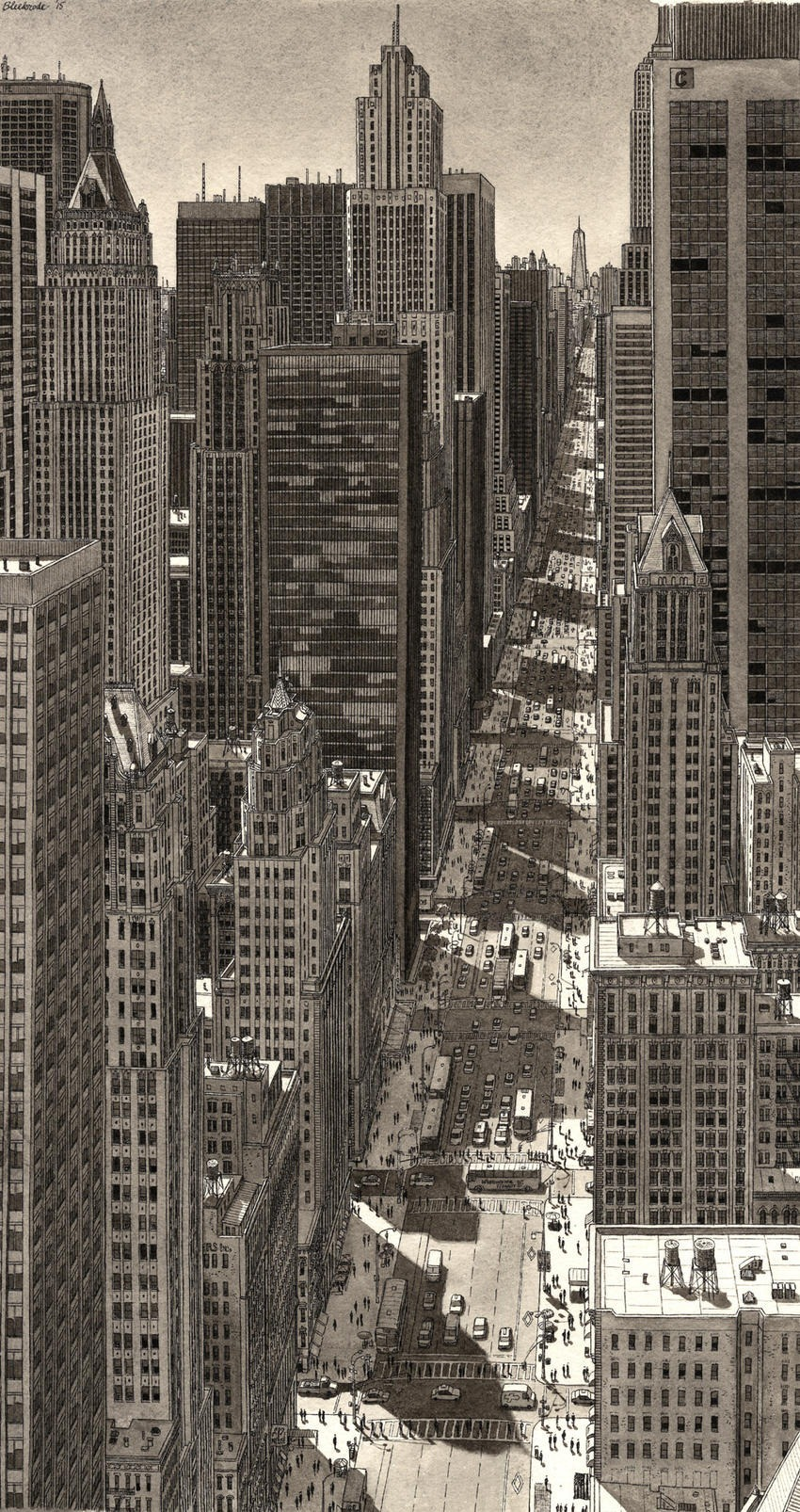 850x1606 Intricate Cityscapes Drawn From Memory By Stefan Bleekrode