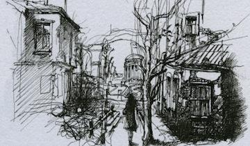 360x210 One Point Perspective Cityscapes Drawingpainting Continuing