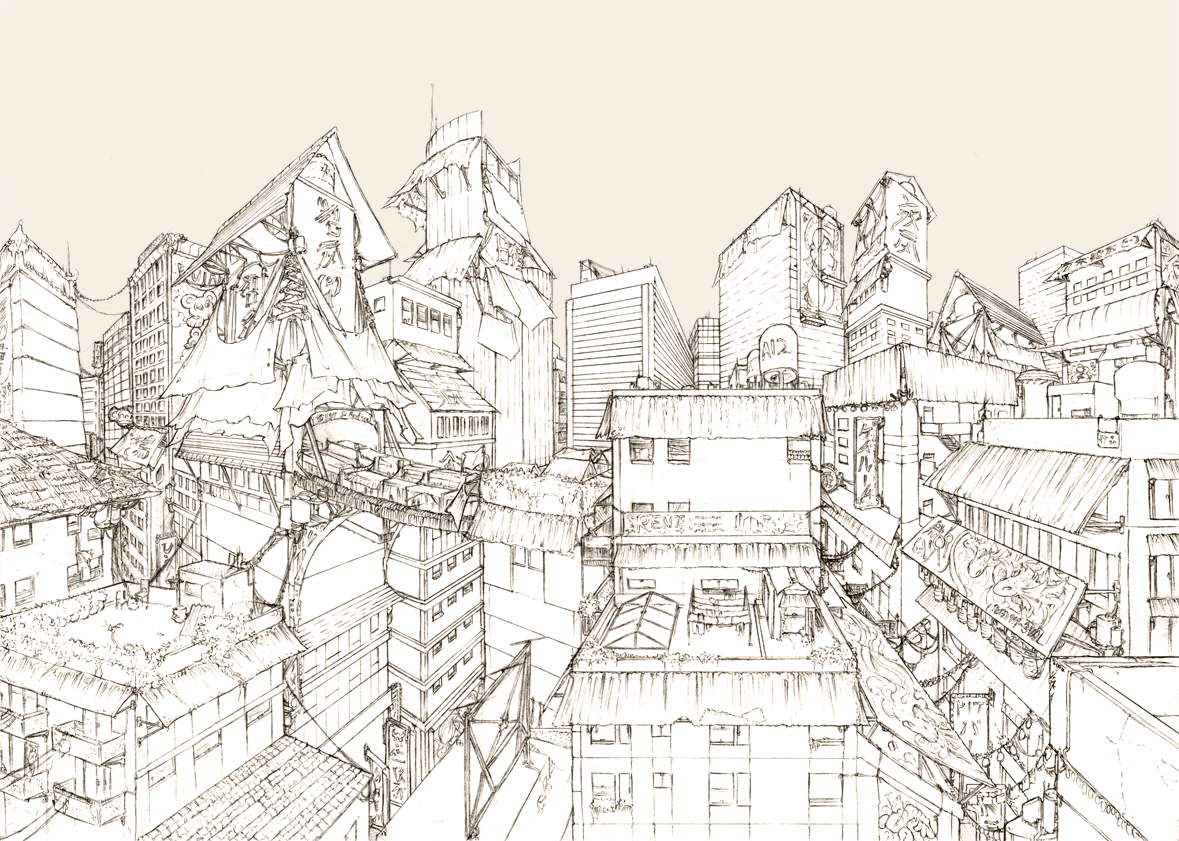1179x841 Background01 Cityscape By Fydbac