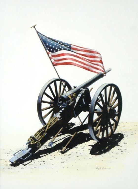 560x768 36a Ralph Bennett Civil War Cannon Pen Amp Ink Drawing