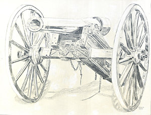 300x228 Cannon Inspection Ready Drawing By Dennis Larson