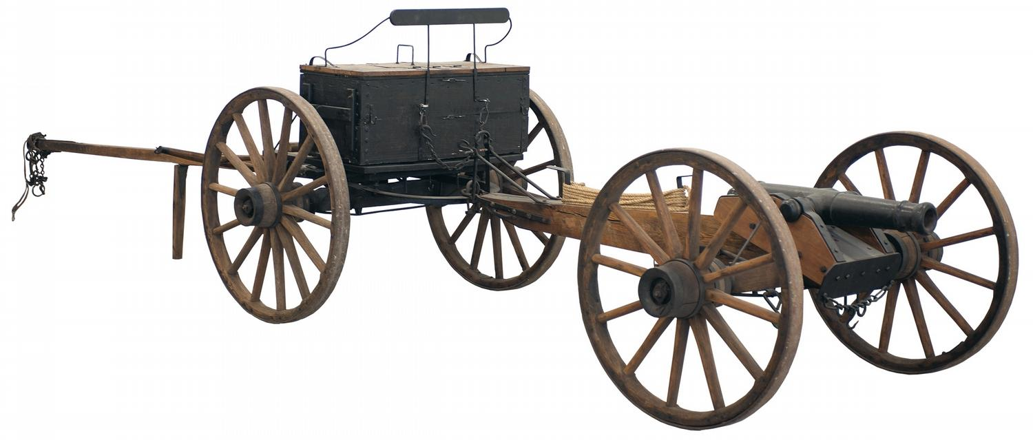 1500x639 Unmarked Field Gun With Carriage, Caisson Andols, Attributed