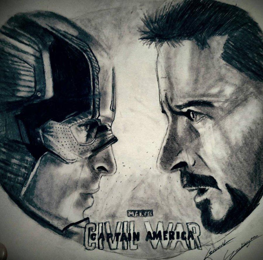 899x888 Captain America Civil War Drawing By Bigken20