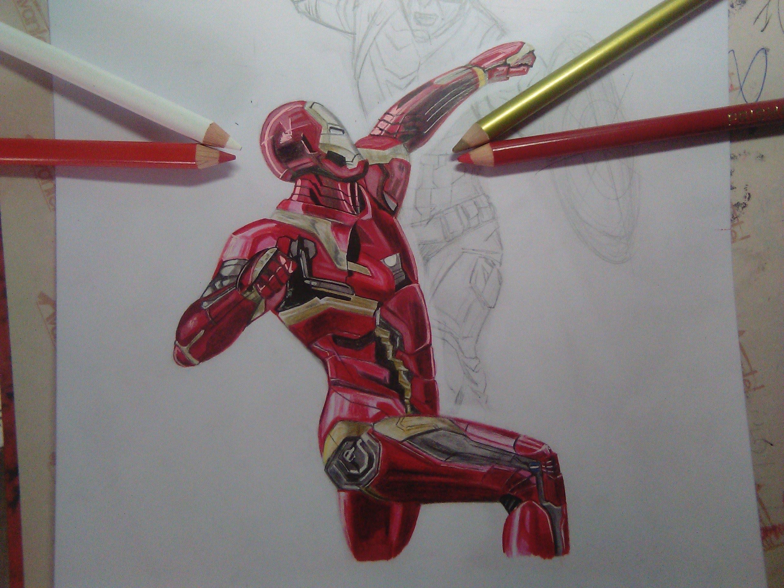 2560x1920 Iron Man Civil War Speed Drawing Part 1