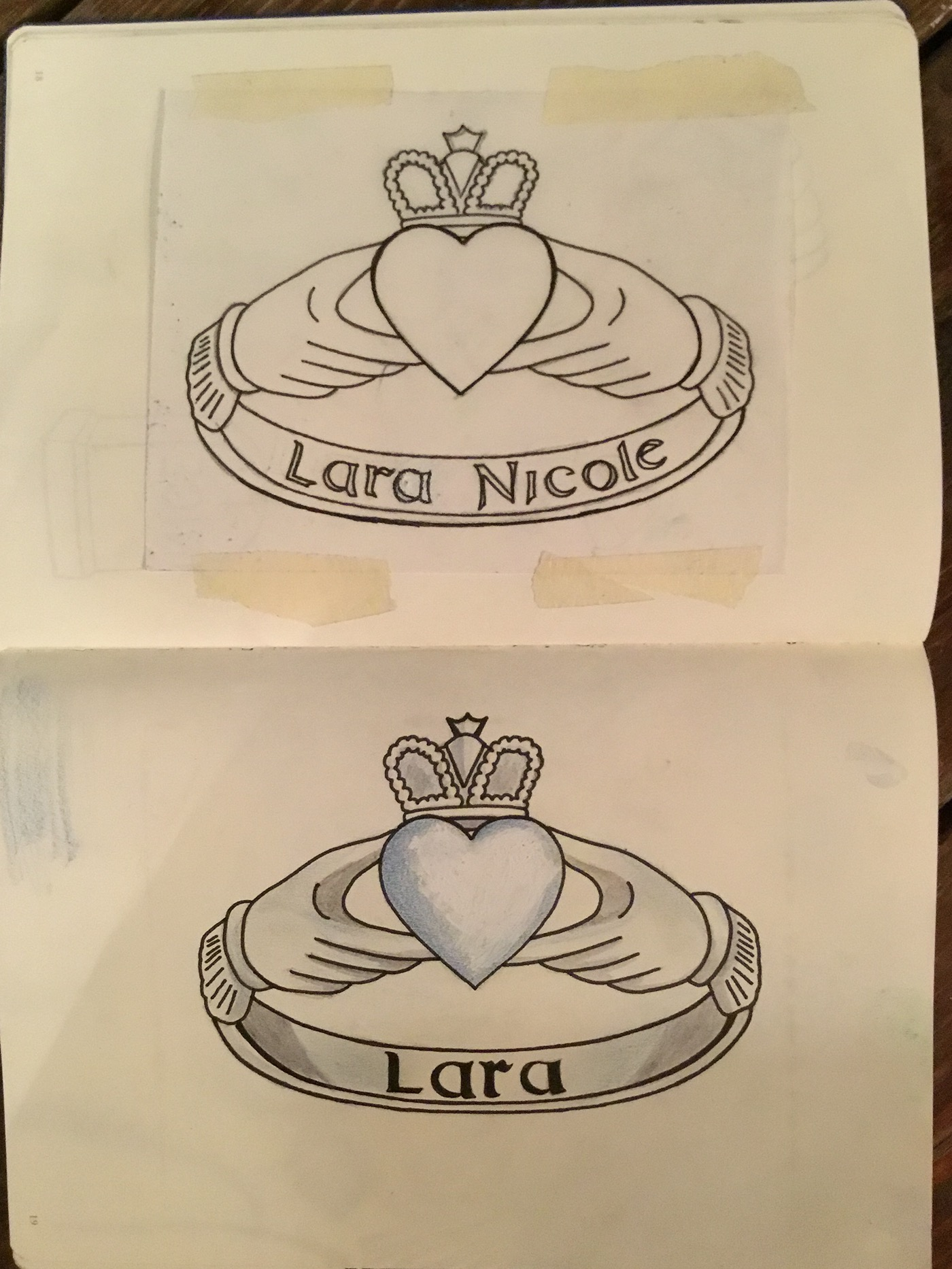 1400x1866 Claddagh Ring Drawing On Behance