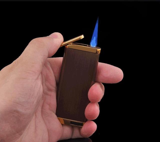 640x567 Tiger Smoking Ultra Thin Butane Blunt Blue Flame Lighter Gas