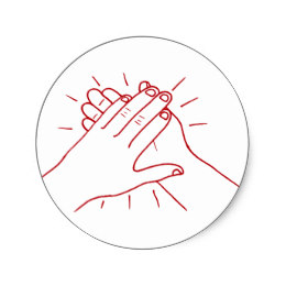 260x260 Clapping Hands Stickers Zazzle