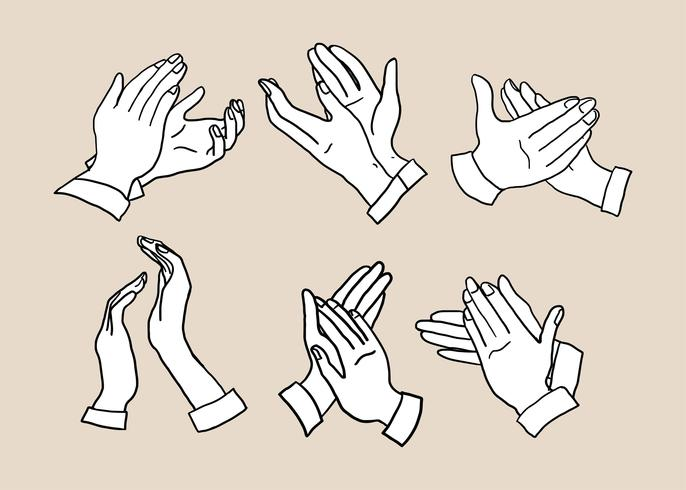 686x490 Hand Clapping Hand Drawn Vector