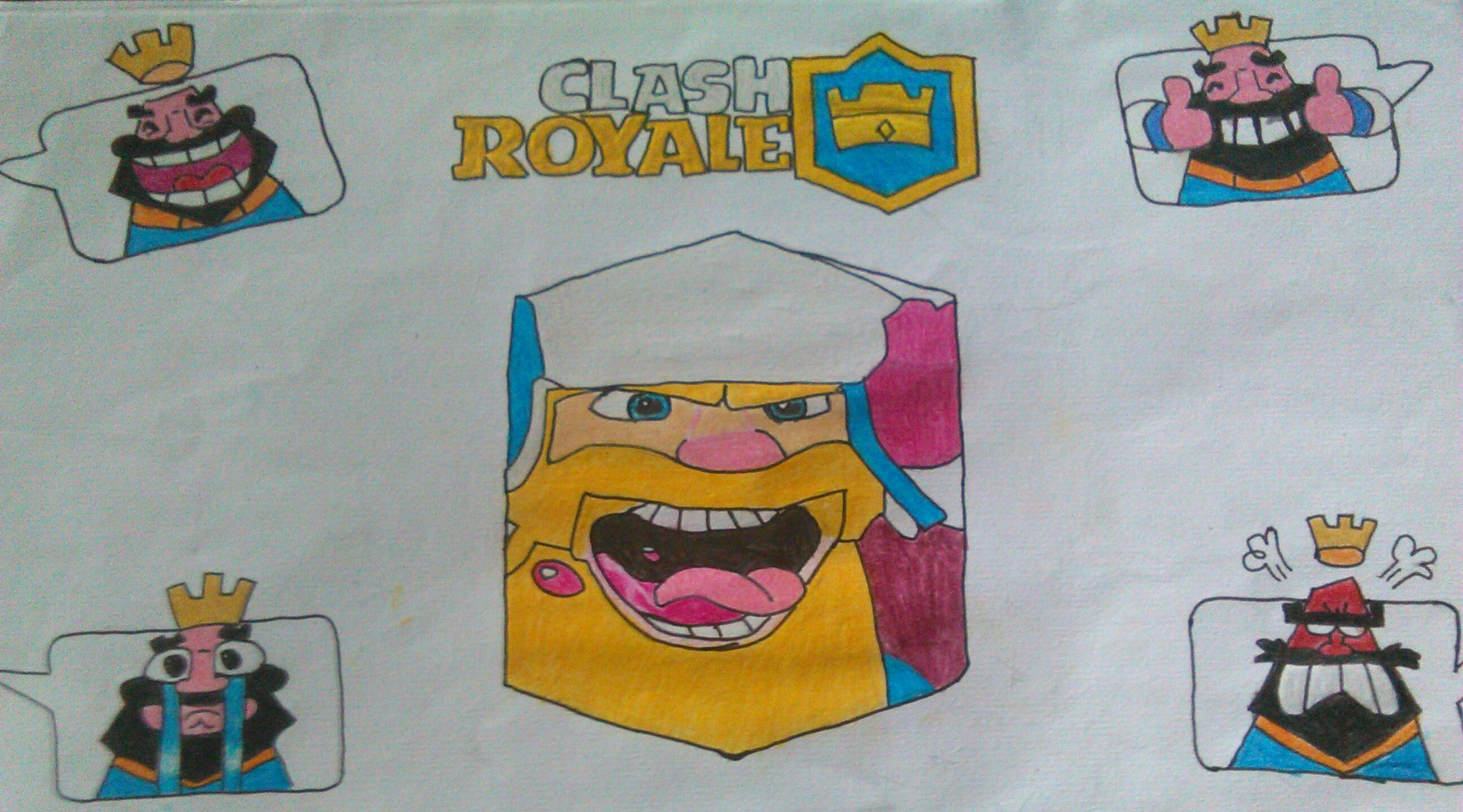 2592x1440 Art] Made A Draw With Color Pencils Of Clash Royale. I Hope You